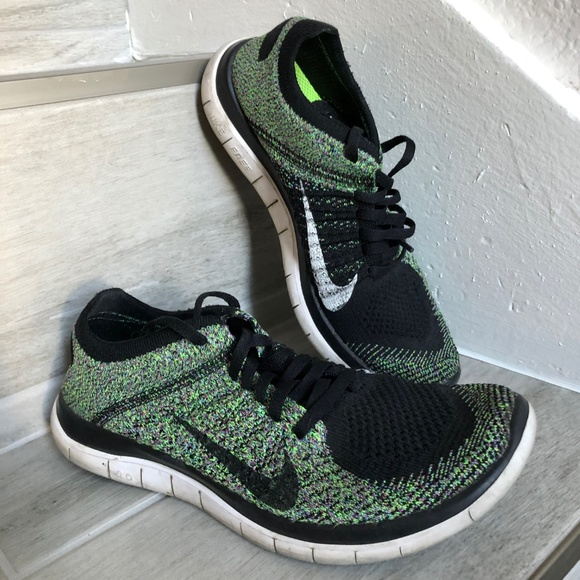reputable site b5ee6 f796e Women's Nike Free Flyknit 4.0 Electric Green/Black